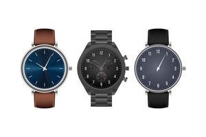 relógio de mão elegante realista isolado