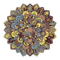 padrão de mandala colorido