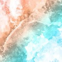 Watercolor texture in blue and brown vector