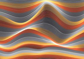 Flowing lines wave vector