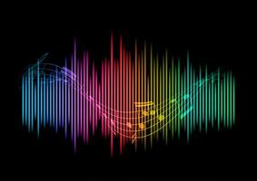 Abstract sound waves background vector