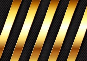 Abstract background with gold metallic bars  vector