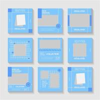Set of Editable Social Media Templates For Your Branding vector
