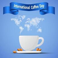 banner del día internacional del café vector