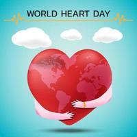 bandera del día mundial del corazón vector