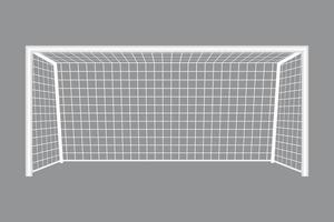 Soccer goal isolated  vector