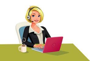 mujeres empresarias en una llamada vector