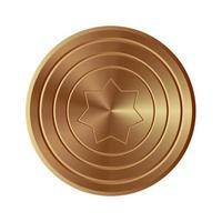 Golden shield isolated vector