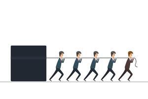 conceito de liderança. líder trabalha com empregadores. ilustração vetorial em design plano.