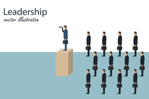 Business leadership and visionary concept vector