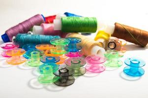 Bright sewing spools