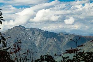Autumn view of the mountains