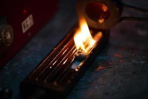 chama inicial para fogueira