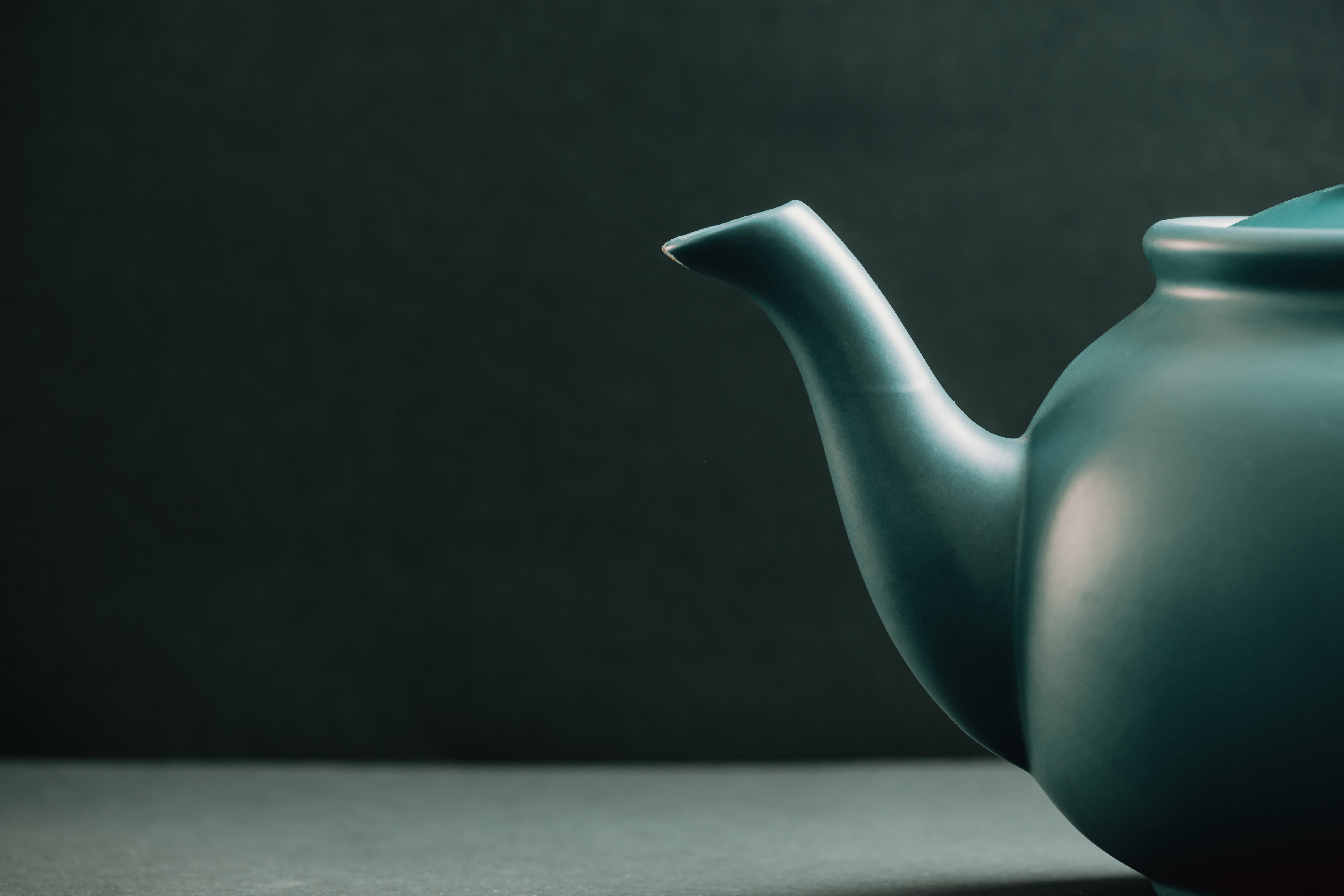 Teapot showing from the right corner