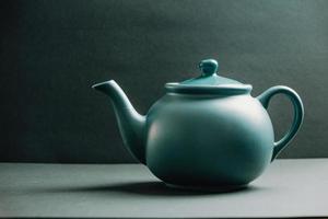 Blue vintage teapot  photo