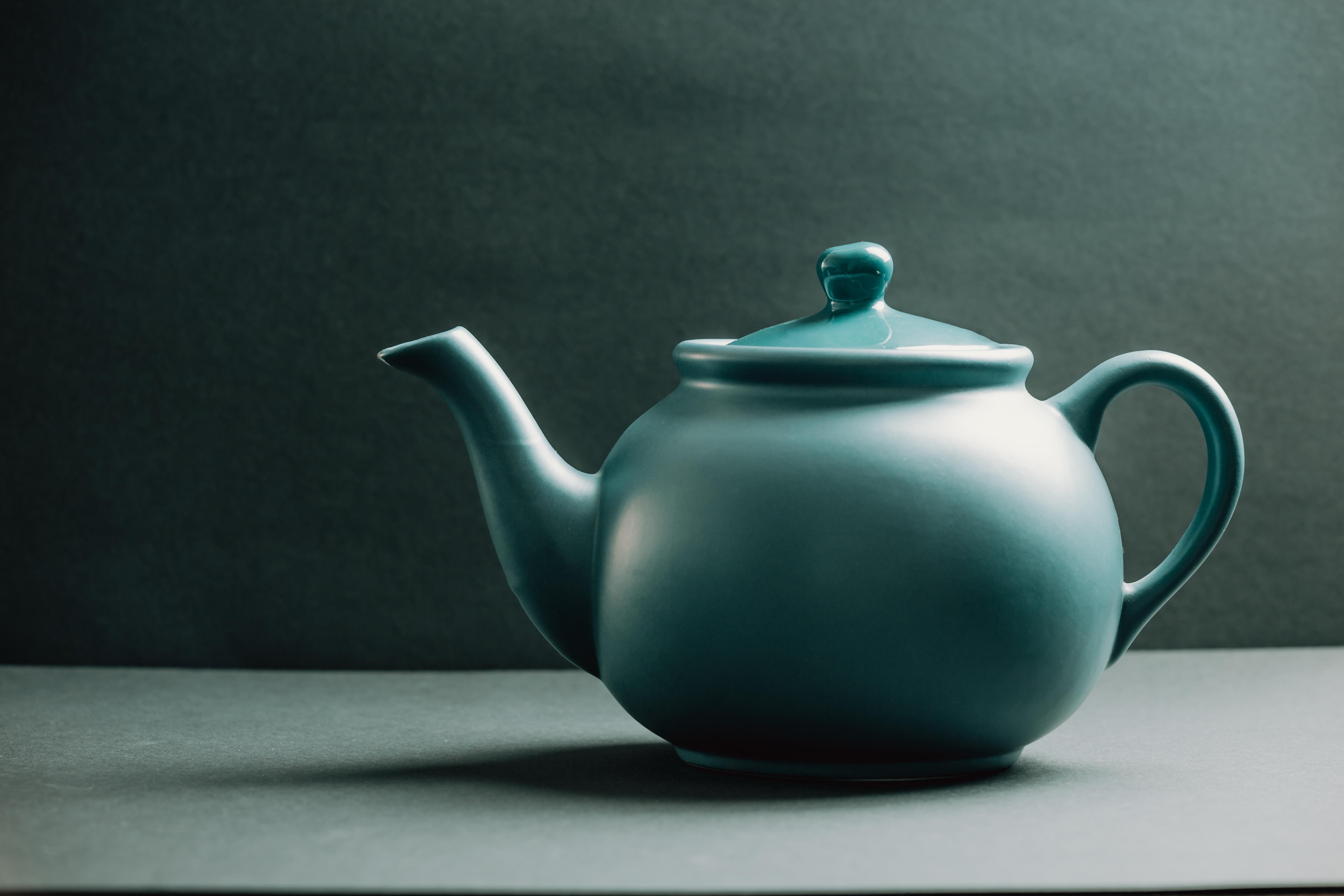 Blue vintage teapot