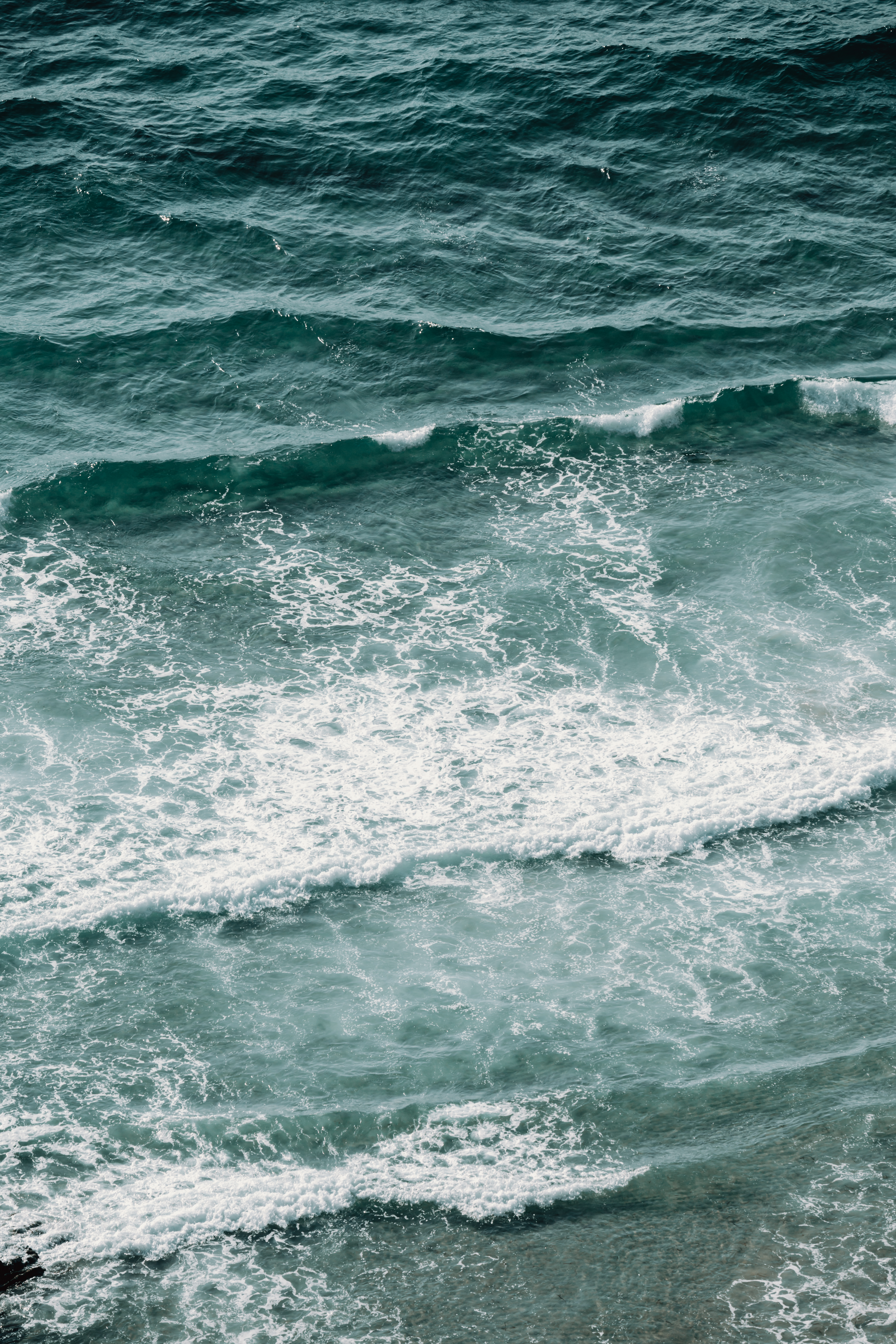 Aerial view of the waves