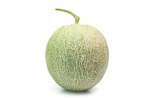 Close-up of a melon on white background