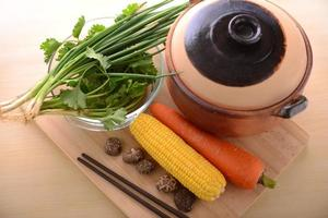 Healthy living with vegetables photo