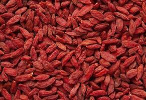 Dried goji berries background