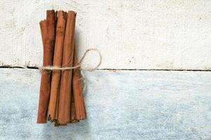 Some cinnamon sticks tied