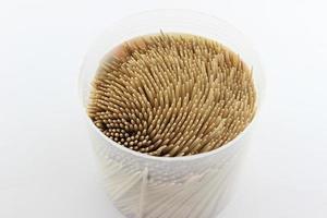 Toothpick on white background photo