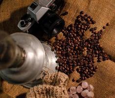 runes and coffee photo