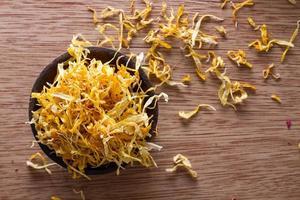 Dried marigold petals photo