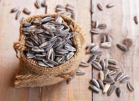 sack with sunflower seeds