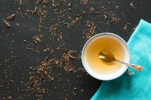 bancha de té verde foto