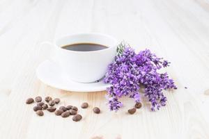 taza de café aromático.