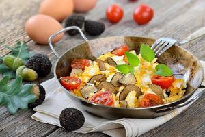 Eggs with truffles photo