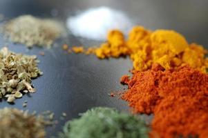 paprika, curcuma, salt,oregano,thyme, rosemary, dill photo