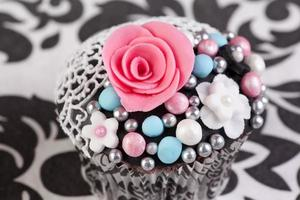 macro picture of cupcake photo
