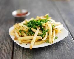 patatas fritas con trufa