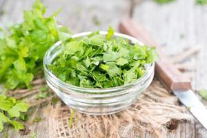 Heap of fresh flat leaf Parsley