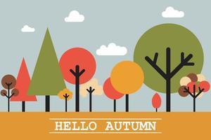 Hello autumn landscape  vector