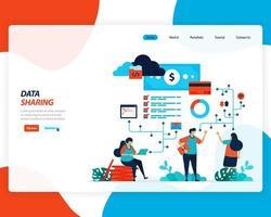 Financial data sharing concept  vector