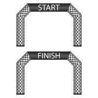Inflatable finish and start line