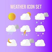 Weather icon pack collection vector