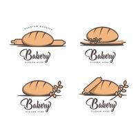 conjunto de diseño de logotipo de panadería