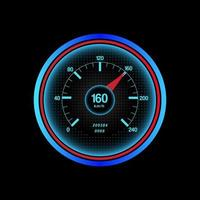 Realistic Car Speedometer on Black vector
