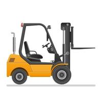 Forklift truck with raised lift isolated vector