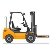 Forklift truck isolated  vector
