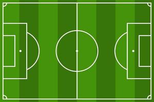 View of football field  vector