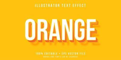 efeito de texto em negrito 3d laranja vetor