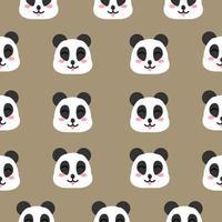 desenho de rosto de panda feliz