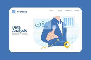 Data Analysis Landing Page  vector