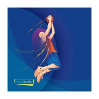 Basketball slam dunk dispersion design vector