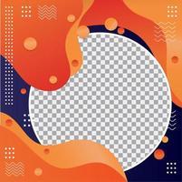 Modern fluid profile picture design vector